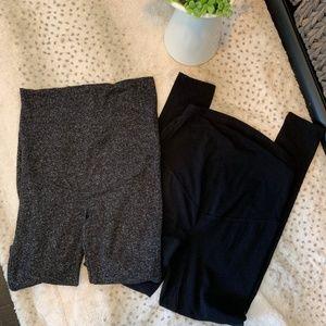 Pants - BUNDLE OF 2 Maternity Leggings